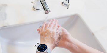 Ilustrasi Galaxy Watch Handwash/Samsung