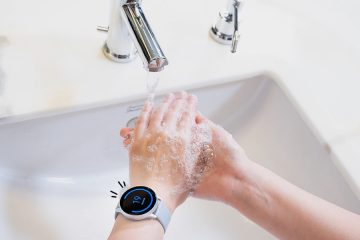 Ilustrasi Galaxy Watch Handwash/Samsung