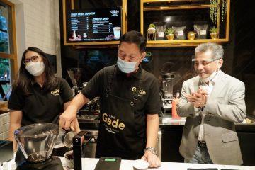 Peresmian gerai The Gade Coffee & Gold di Taman Sentra BRI yang berlokasi di Jalan Jenderal Soedirman Jakarta, Rabu (13/08/2020)/Dok. Pegadaian